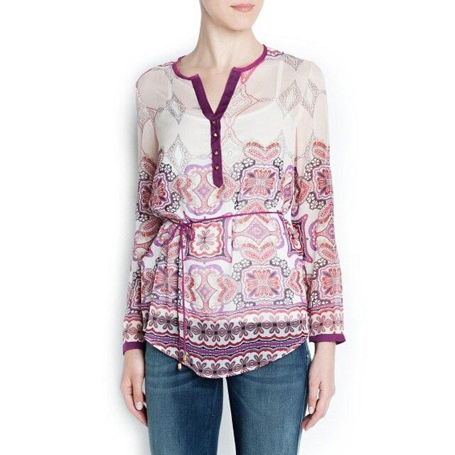 Top Design Women Stylish Blouse Cashews Printed ...