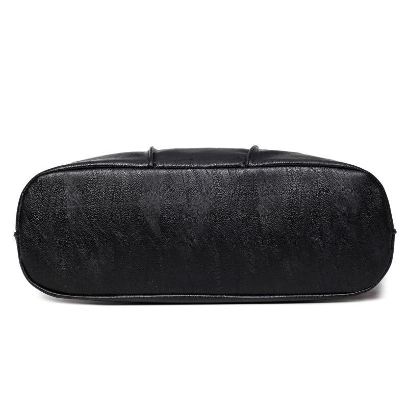 couro macio bolsa de ombro Abacamento / Decoração : Nenhum