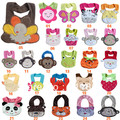 Crianças crianças infantil animais bonitos carton toalha saliva do bebê bib impermeável 40 projetos