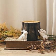 MRZOOT Pastoral style creative container ornament decoration study desktop resin pen holder ornaments Nordic rabbit furnishings