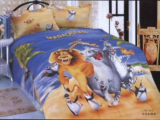 Genial Madagascar Printed Bedding Single Twin Size Bed Duvet Covers Sets  Bedclothes Kids Boyu0027s Baby Bedroom Decor