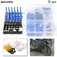 Motorcycle Fairing Bolts Aluminum Spire Speed Fastener Clips Screw Spring Bolts Nuts For Honda CRF450 CRF250 CRF125 CRF1000 CRF