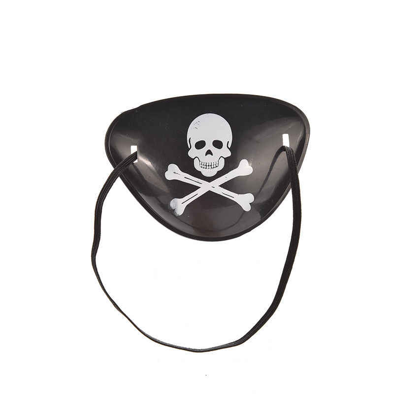 1 шт. партии Косплэй Custume пиратский глаз патч маска для глаз тени для век Обложка плотная для взрослых ленивый глаз амблиопии череп Нашивки