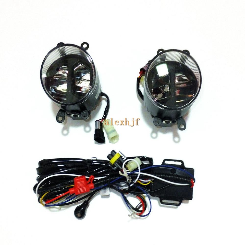 Yeats 1400LM 24W LED Fog Lamp, High-beam Low-beam + 560LM DRL Case For Scion TC IQ 2012~13 XB 2008~09, Automatic light-sensitive
