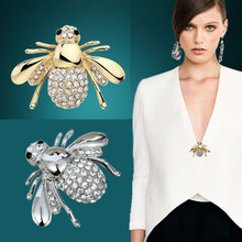 Fashion Rhinestone Brooch Jewelry Lovely Alloy Bee Brooches Pins Accessories MK11197