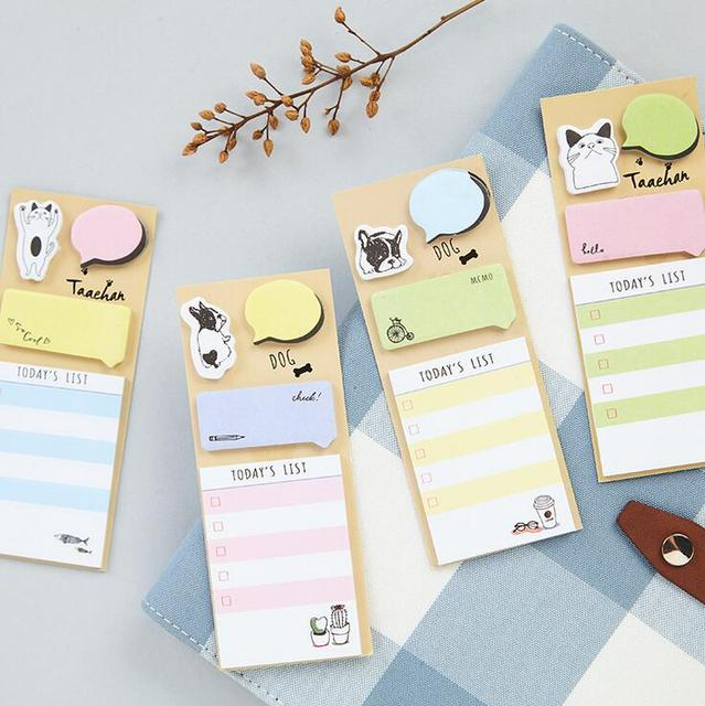 Today's List Cartoon N Times Self-Adhesive Memo Pad Sticky Notes Bookmark School Office Supply