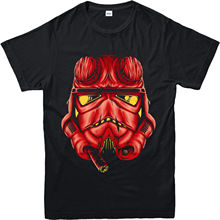 Star Wars T-Shirt, Hellboy Spoof Inspired Design Top (SWHBS) Youth Round Collar Customized T-Shirts free shipping