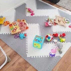 MQIAOHAM tapis de jeu bébé tapete infantil tapis enfant jouets pour enfants tapis de jeu puzzle eva mousse gym enfants tapis triangle 35 CM * 1 CM - 2