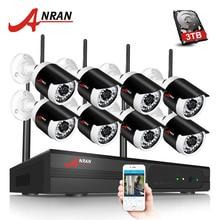 ANRAN H.264 8CH Wifi NVR Netzwerk-videorecorder Drahtlose CCTV System1080P HD Mini Kugel Wifi IP Kamera Surveillance Kit