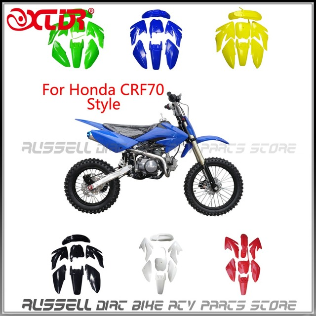 FENDER PLASTIC KITS FOR HONDA CRF 70 CRF70 Dirt Pit Bike 6 color-in ...