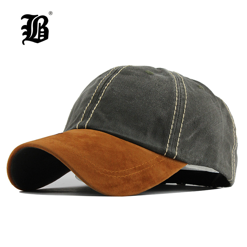 [FLB] 100% cotton Washed casquette   baseball     caps   Men hats Solid   cap   Embroidery Dad Hat for Women gorras planas snapback F120