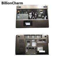 Billioncharmn 新パームレストカバー/ボトム東芝 P850 P855 シルバーラップトップボトムベースケースカバー