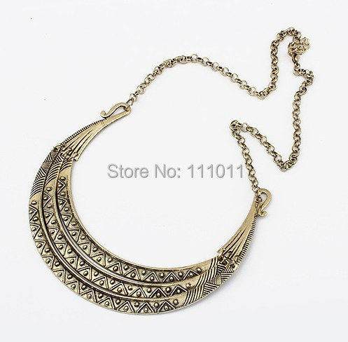 Mini order 10USD Free shipping Hot Ladies Punk Sexy vintage Bronze Metal  multilayers Choker Collar Mottled Necklace,SPX0068