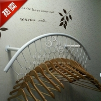 Clothes hangers on display shelf clothing display shelf side wall hanging clothing store shelves display wall hanging