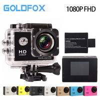 GOLDFOX 12MP 170D Lens 1080P FHD Video Action Camera 30M Go Diving Pro Waterproof Sport DV