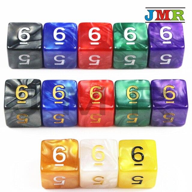 D6 10 PCS TRPG Dados para Jogos DicesDesktop Peças Do Jogo Dungeons & Dragons Dnd, rpg