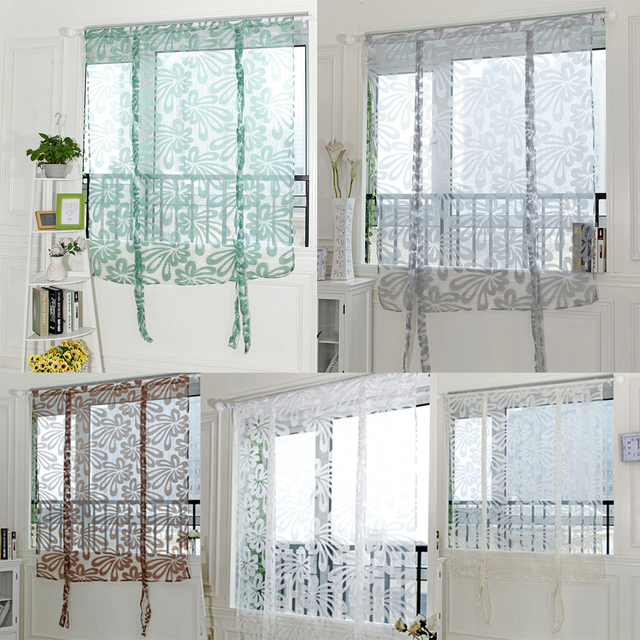 Fl Window Curtains For Living Room Bedroom Multi Color Polyester Voile Door Balcony Curtain Blinds