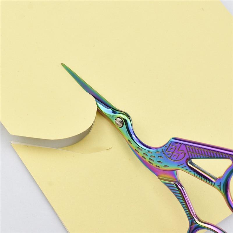 Looen Embroidery Scissor Crane Shaped Cross Stitch Tailor Scissor Retro European Sewing Handicraft DIY Home Tool Accessories (10)