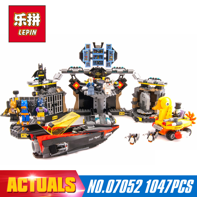 Free shipping 1047Pcs Lepin 07052 New Genuine Movie Series 70909 Batcave Break-in Building Blocks Bricks Education Toys