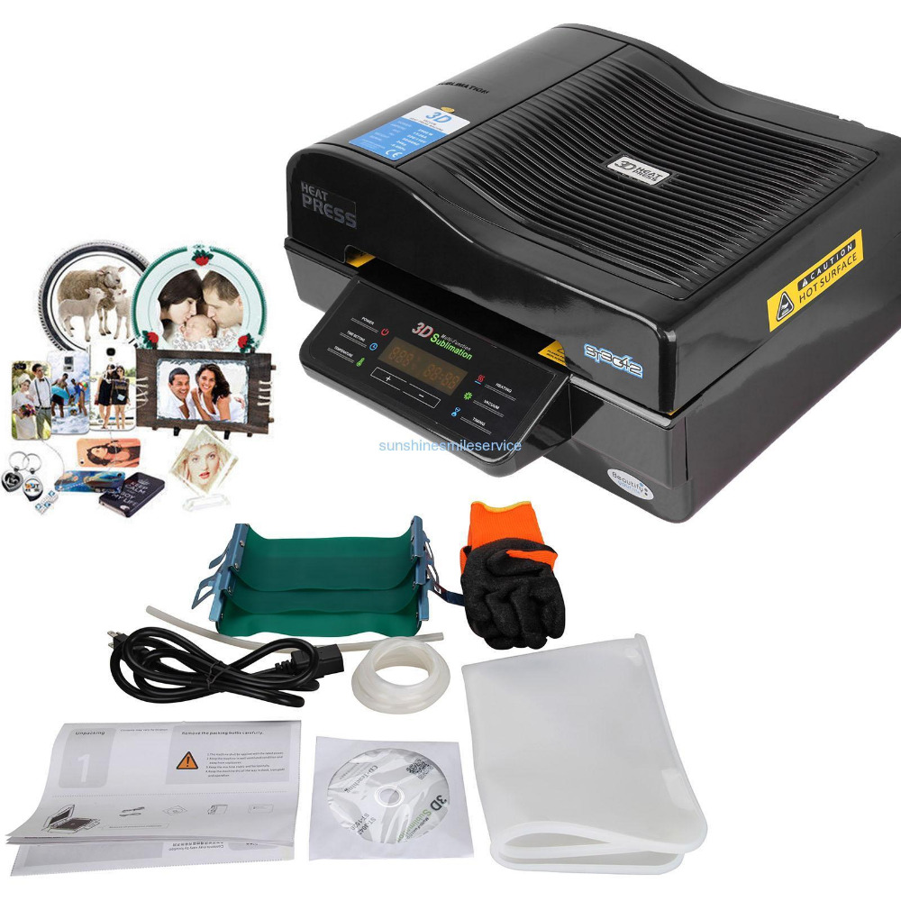 (Shipping From DE ) 3D Sublimation Printer 3D Vacuum Heat Press Transfer Machine Sublimation Mug Printing 1pc mould for 3d ipad case 3d vacuum sublimation machine heat press transfer