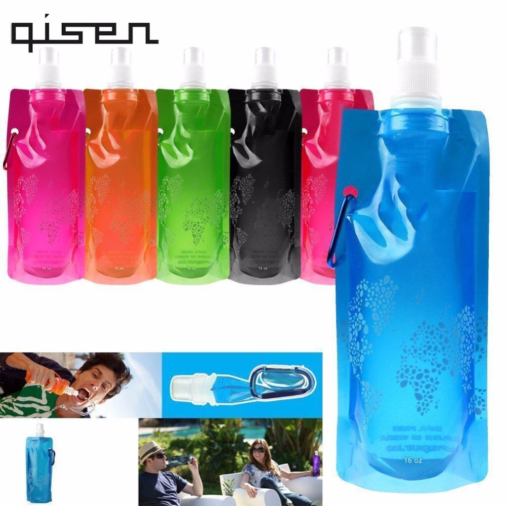 500ml Fashion Folding Water Bottle Outdoor Camping Mountaineering Tourism Hiking Drinking Water Kettle