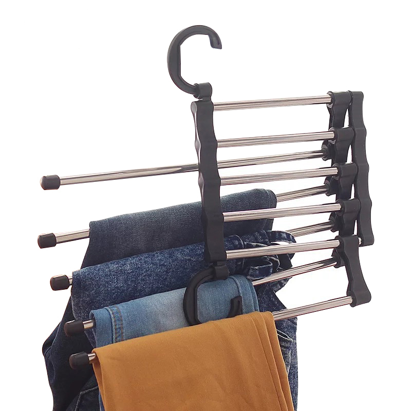 Portable Hanger Men Pants Trousers Holder Woman Clothing Towel Hanging Rack Organizer Wholesale Accessories Supplies