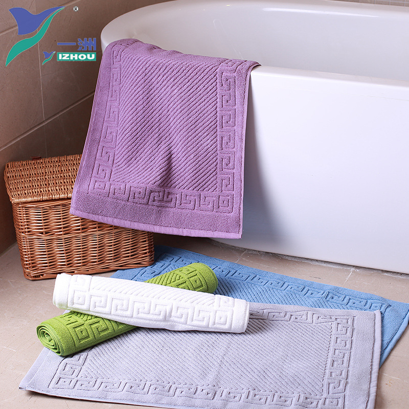 Absorbent Towel Bath Mat Thicken Cotton Bathroom Carpet Foot Pad Toilet Bath Rug Doormat Water Absorbable Machine Washable in Bath Mats from Home Garden