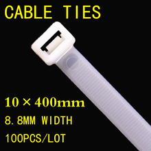 10*400mm White Black Nylon Cable Tie National Standard Office Organizer Garden Ties Factory directly 100pcs/lot