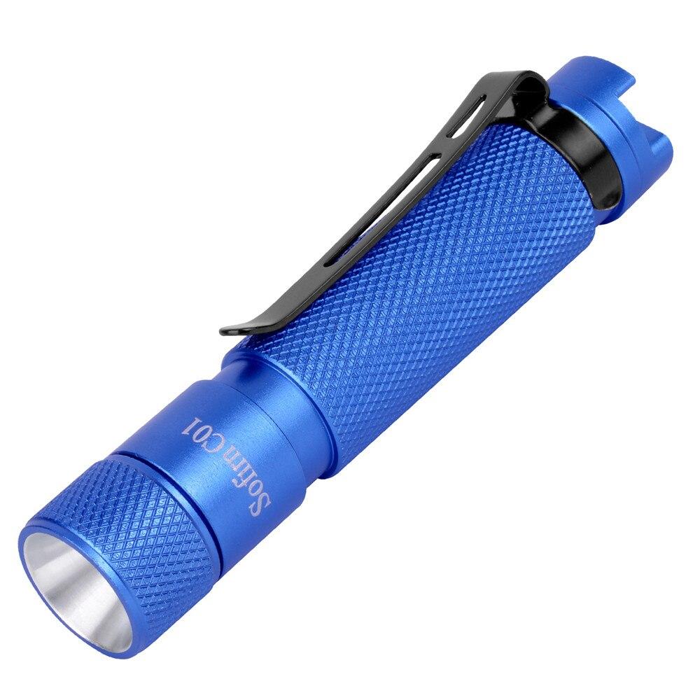 Sofirn C01 BLF especial Mini LED linterna AAA alta 94 CRI Yuji LED llavero linterna sombrero luz de giro con Clip giro, rojo, azul