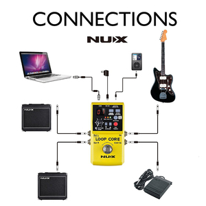 Image 5 - NUX Loop Core, Guitar Effect Pedal, Looper, 6 Hours Recording Time, 99 User Memories, Drum Patterns with TAP Tempo with gift