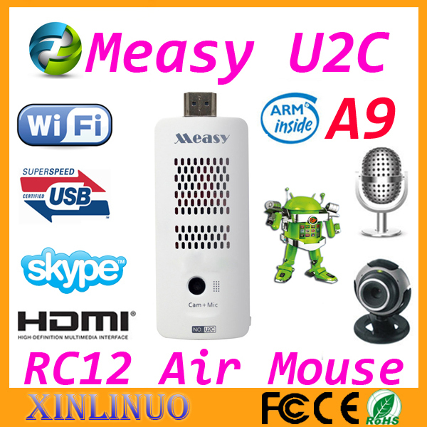 Measy U2C TV Box Skype Online Chat Built-in Webcam Mic Bluetooth RK3066 Dual core 1G/8G AV Output HDMI WiFi Google Android 4.1.1