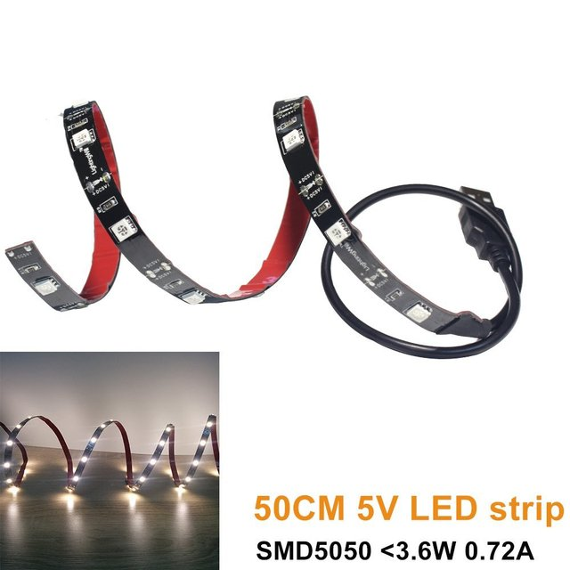 USB Alimentado Luz Conduzida da tira SMD5050 Warm White LED Backlight TV para Polegadas para Polegadas Tela Plana TV Cozinha de Casa Bar luzes