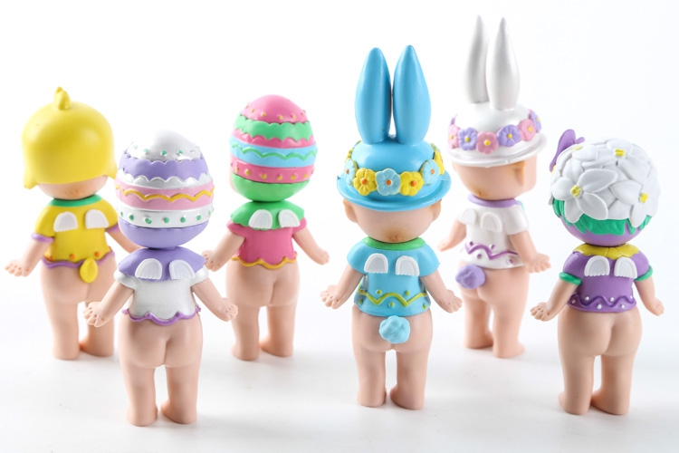 Sonny Angel  Figures Easter Series 6pcs/set Toys Christmas & Brithday Gift PVC Action Figure Collectible Model Toy 8cmKT3113 2