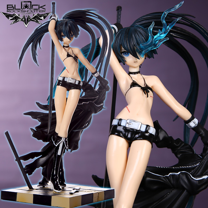 Japan Anime Black Rock Shooter 1/8 Figurine Hatsune Miku Sexy Girl PVC Action Figure Collectible Model Toy Doll 23CM zxz 23cm anime nisekoi kirisaki chitoge 1 8 cute sexy girl pvc figure toys action figure toys collectible model gifts