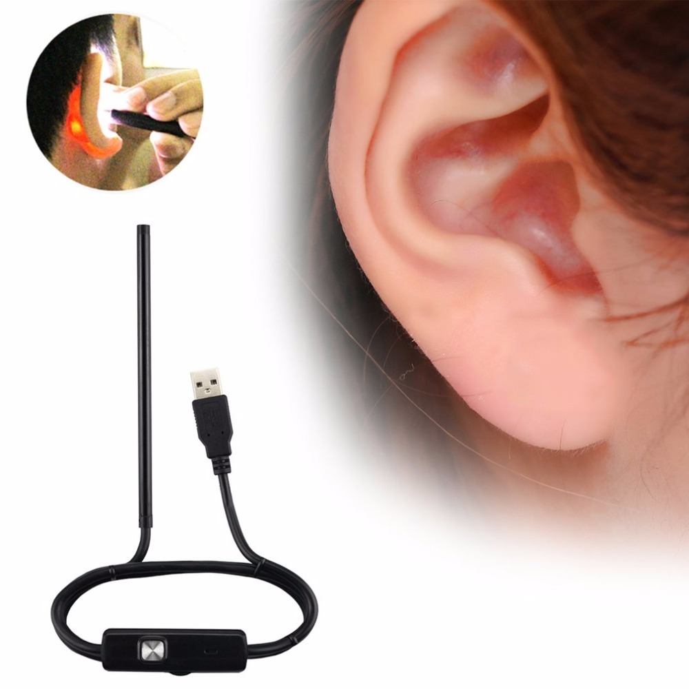 Long Handle USB Ear Cleaning Tool Ear Cleaning Endoscope HD Visual Ear Spoon Multifunctional Earpick Health Care Supplies New
