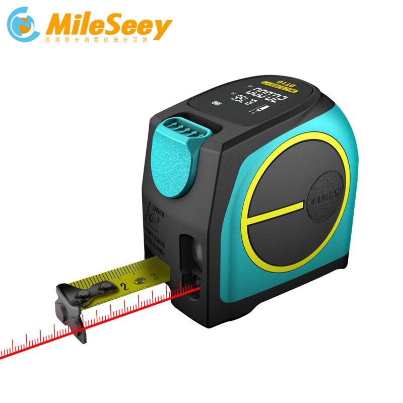 Mileseey Digital Laser Rangefinder and Laser Tape Measure 2 in 1 with LCD Display Digital Laser
