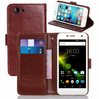 GUCOON Vintage Wallet Case For Wileyfox Spark Sparkplus 5 0 PU Leather Retro Flip Cover Magnetic