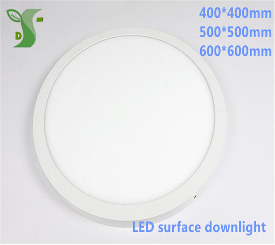 32W 36W 48W led round/square panel light 400*400mm 500*500mm 600*600mm surface down light AC85-265V with drier цена