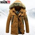 2016 Winter Men's down coat large fur collar medium-long detachable hood duck down coats men down jacket coats down parkas