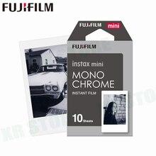 Fujifilm Instax Mini 11 8 9 Film MONO krom Fuji anında fotoğraf kağıdı 10 adet için 70 7s 50s 50i 90 25 payı SP 1 2 kamera