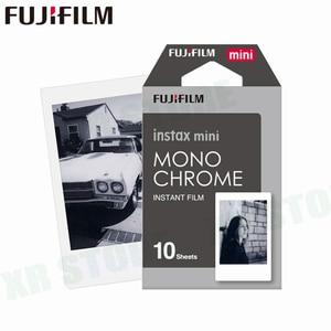 Image 1 - Fujifilm Instax Mini 11 8 9 Film MONO krom Fuji anında fotoğraf kağıdı 10 adet için 70 7s 50s 50i 90 25 payı SP 1 2 kamera