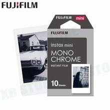 Fujifilm Instax Mini 11 8 9ฟิล์มMONO CHROME Fuji Instant Photoกระดาษ10แผ่นสำหรับ70 7S 50S 50i 90 25หุ้นSP 1 2กล้อง