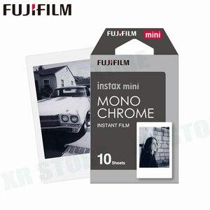 Image 1 - Fujifilm instax mini 11 8 9 filme mono chrome fuji instantânea foto papel 10 folhas para 70 7s 50s 50i 90 25 share SP 1 2 câmera