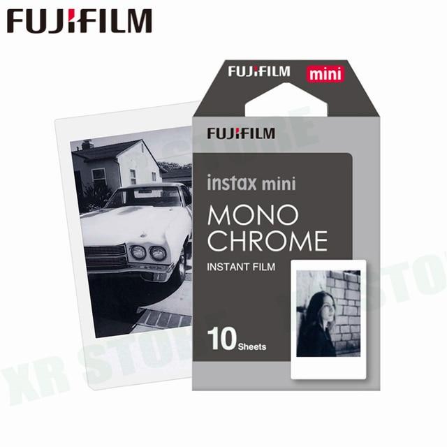 Fujifilm instax mini 11 8 9 filme mono chrome fuji instantânea foto papel 10 folhas para 70 7s 50s 50i 90 25 share SP 1 2 câmera