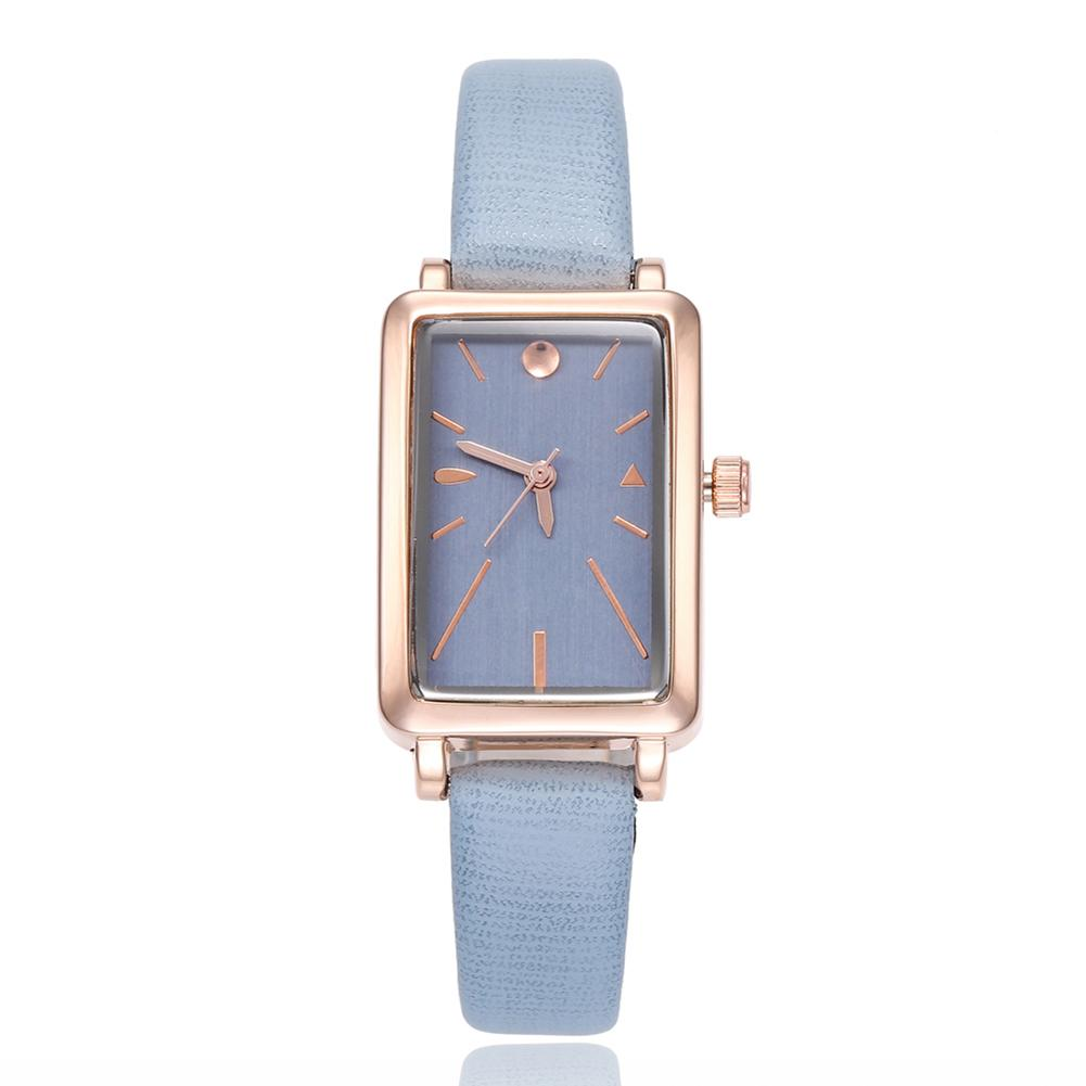 Women Rectangle Dial relogio feminino Faux Leather Band Fashion No Numbers Quartz Wrist Watch Fashion women watches