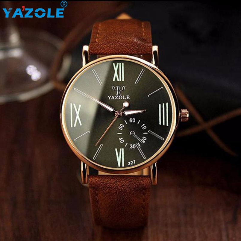 YAZOLE Wrist Watch Men 2017 Top Luxury Famous Wristwatch Male Clock Quartz Watch Hodinky Quartz Watch Relogio Masculino #A73