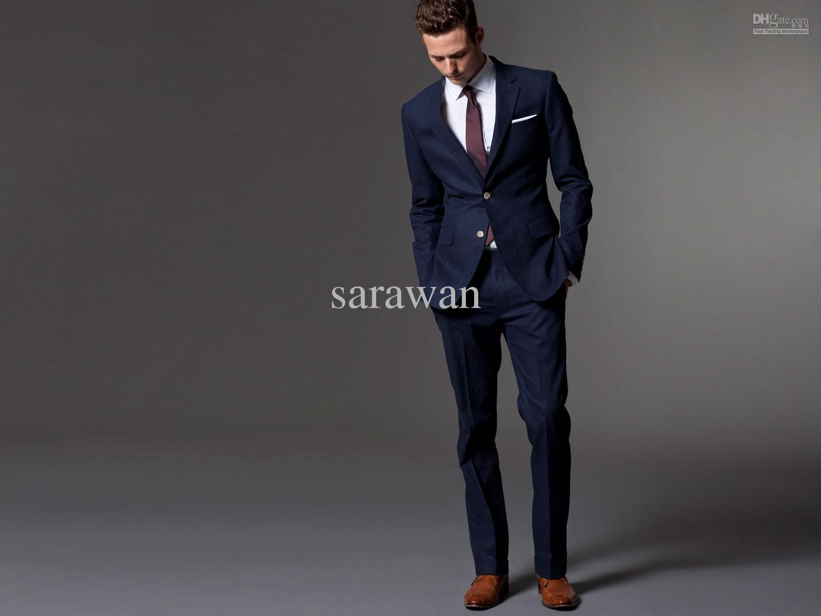 HTB1FQwQGXXXXXa6XpXXq6xXFXXXD Men Suit Men Tuxedo Custom Made Wedding Suits For Men 2018 Tailored Light Navy Blue Mens Suits With Pants Costume Homme Mariage