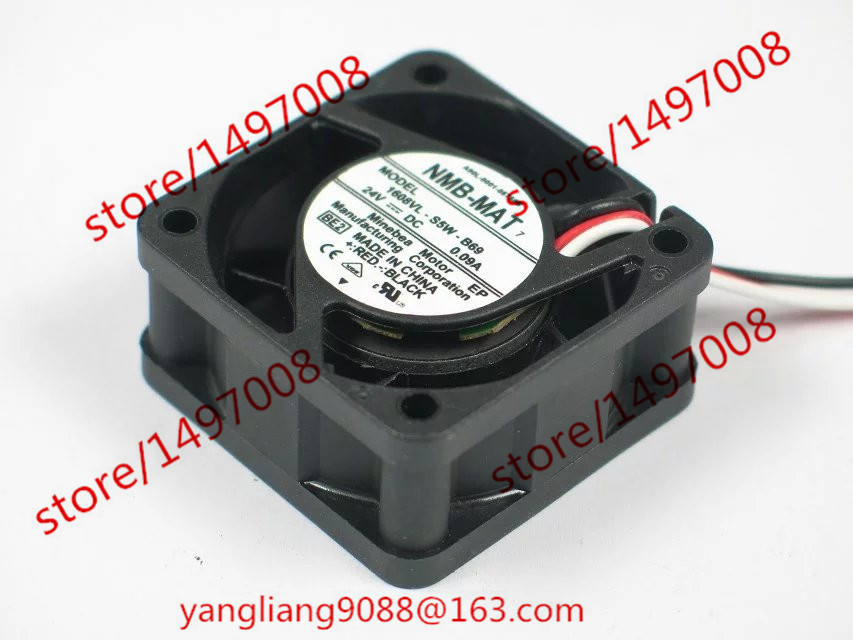 Free Shipping For  NMB 1608VL-S5W-B69, BE2 DC 24V 0.09A 3-wire 3-pin connector 60mm 40x40x20mm Server Square Cooling Fan вентилятор напольный aeg vl 5569 s lb 80 вт