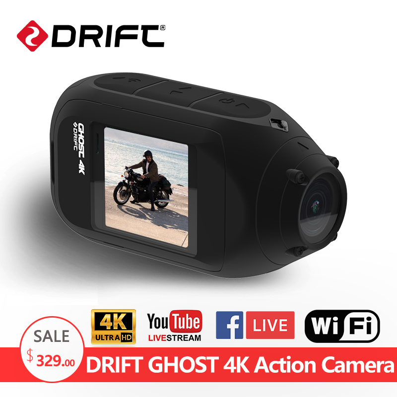 Drift Ghost 4K Action Camera Motorcycle Sport go Bike Bicycle pro Helmet Camcorder mini Diving Camera with LCD Touch Screen Cam universal bike bicycle motorcycle helmet mount accessories