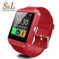 Nova u8 bluetooth smart watch relógio de pulso para samsung s4/note 2/note 3 htc lg huawei xiaomi android phone smartphones
